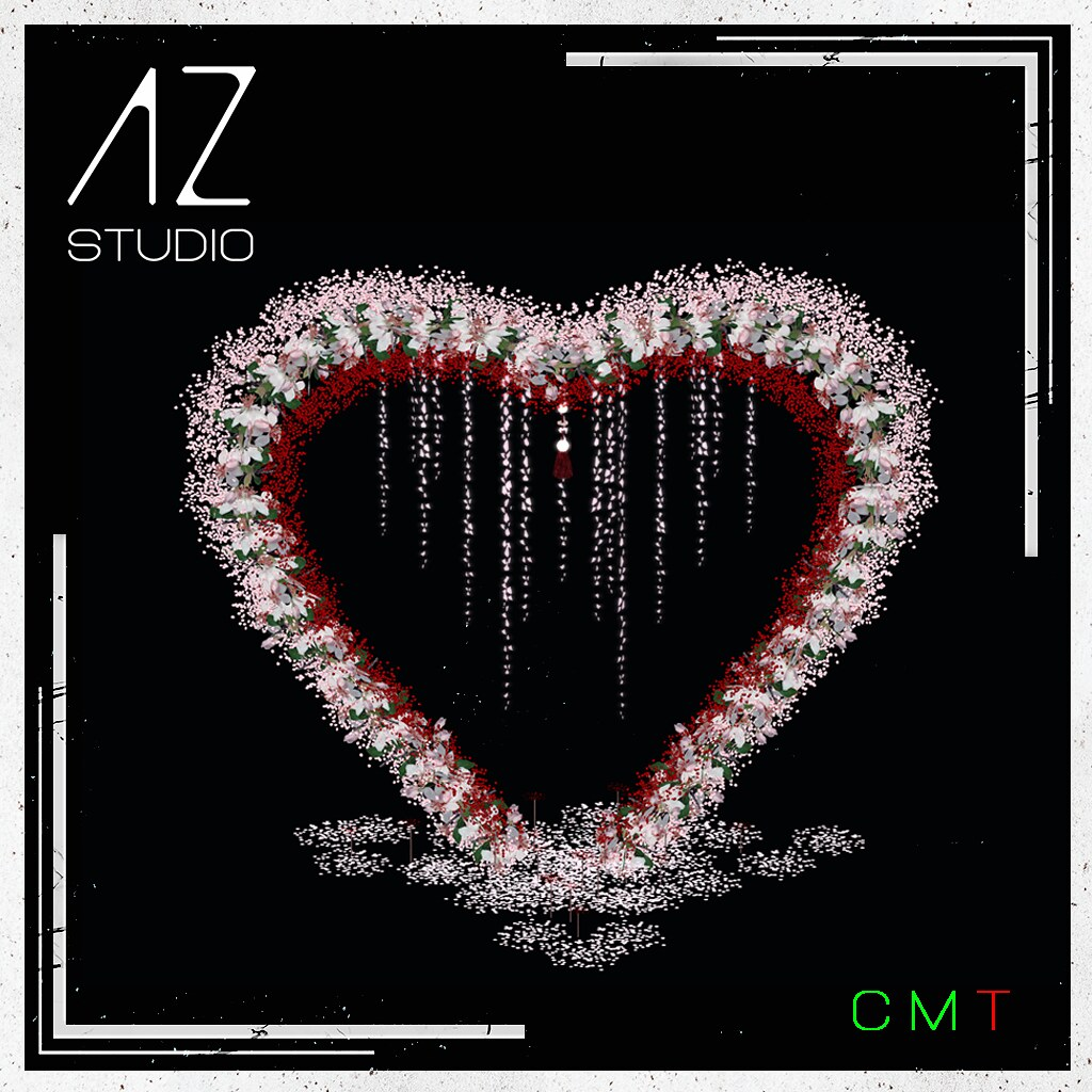 [AZ] STUDIO at Swank event February 2021 New Exclusive Release. Heart Backdrop part of my Celebrate LOVE collection.
