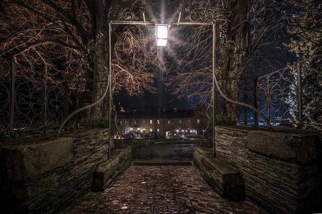 under the lantern