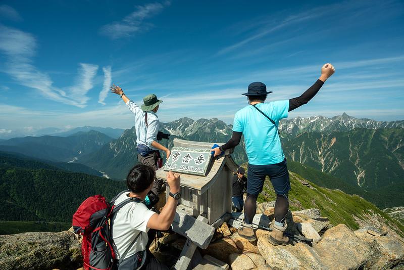 常念岳の集合写真