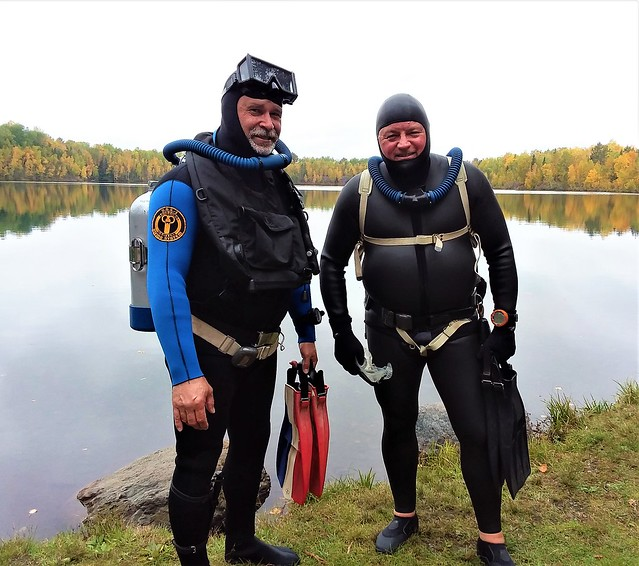 Double hose divers at Fortune Pond.