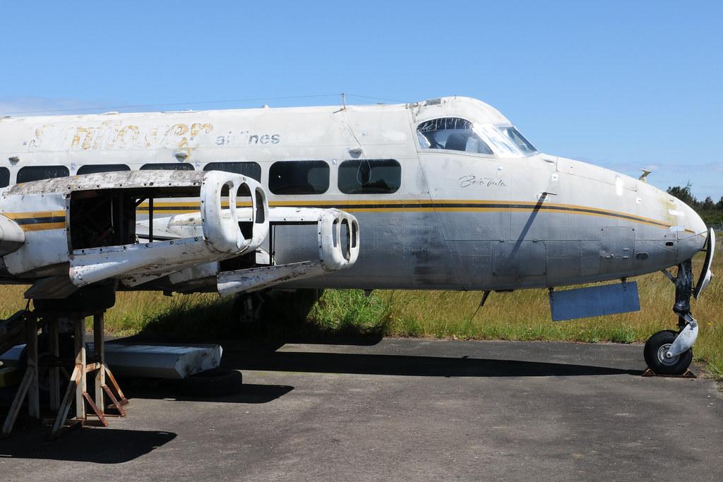 DeHavilland DH114 Riley Heron, Sunflower Airlines (ex) DQ-FDY, Australian Aviation Museum, Bankstown, NSW, Australia.