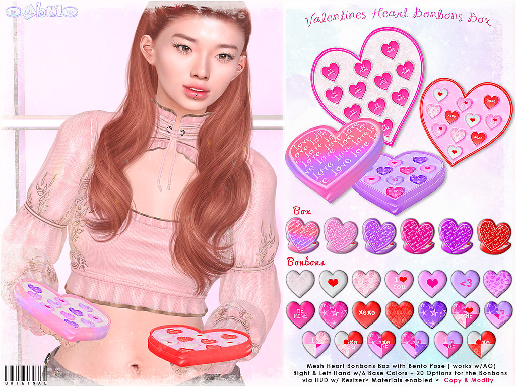 [ bubble ] Valentines Heart Bonbons Box