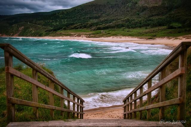 Playa de Ponzos- Ponzos beach (Ferrol-Galicia-Spain).