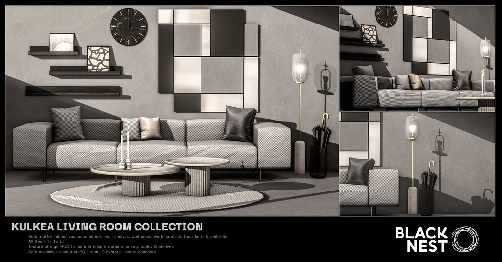 BLACK NEST | Kulkea Living Room Collection | Collabor88