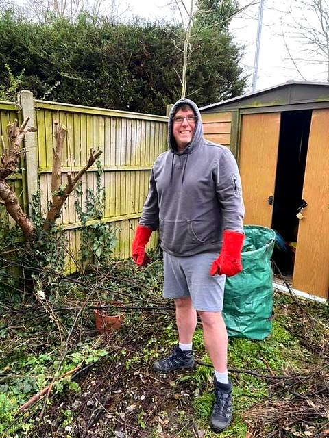 Winter gardening in shorts!