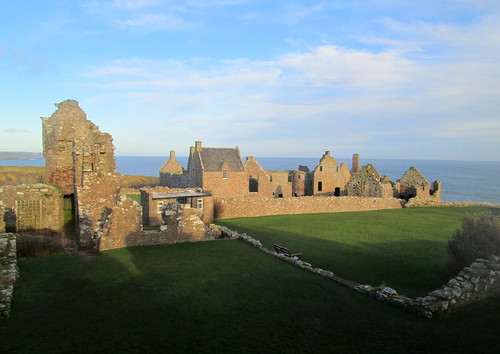 Buildings inside Dunnottar Castle