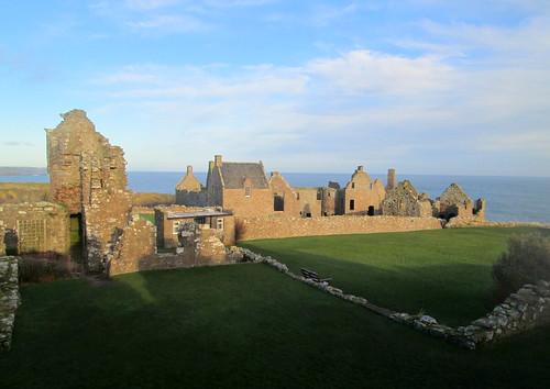 Buildings inside Dunnottar Castle