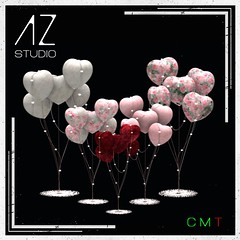 [AZ] STUDIO at Swank event February 2021 New Exclusive Release. Heart Balloons Set part of my Celebrate LOVE collection.