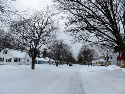 the street in front of our home Winter 2021