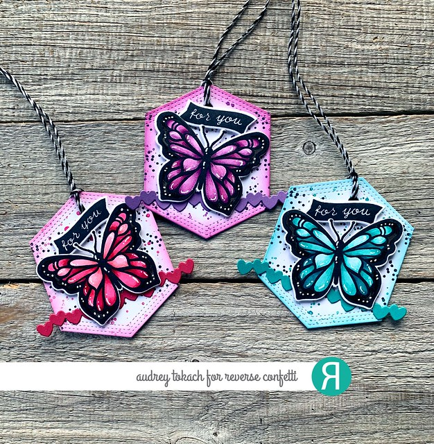 Stained Glass Butterflies Tags