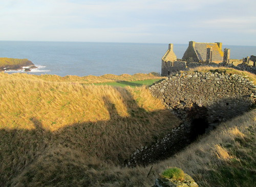 Part of Dunnottar Castle and Sea Beyond