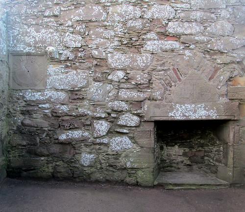 Dunnottar Castle, Sundial and Lintel