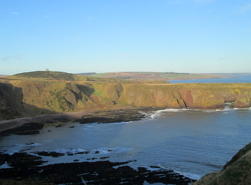 Cliffs and Sea Inlet from Dunnottar Castle
