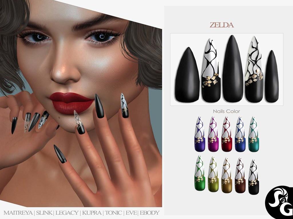 Zelda Bento Mesh Nails