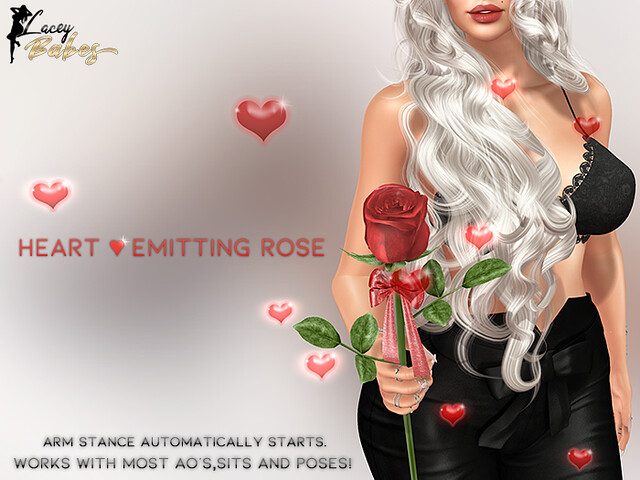NEW! Heart Emitting Rose (hand held)