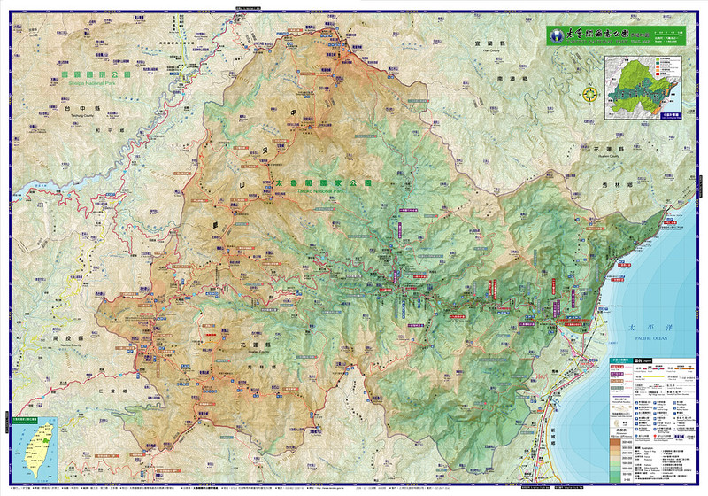 Taroko map from Taroko National Park website