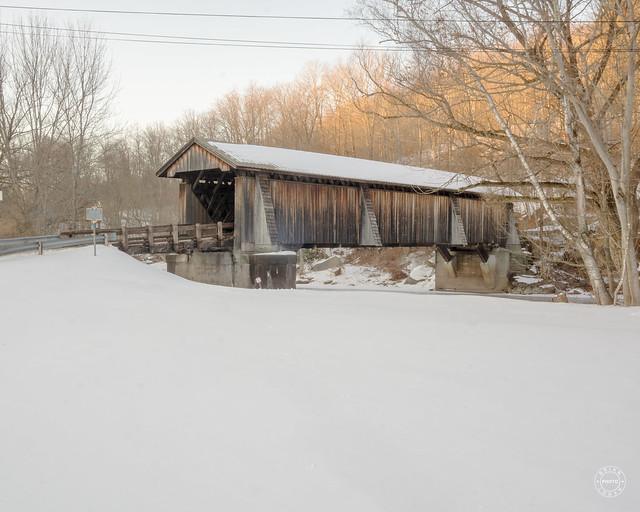 Livingston Manor Covered Bridge in Winter