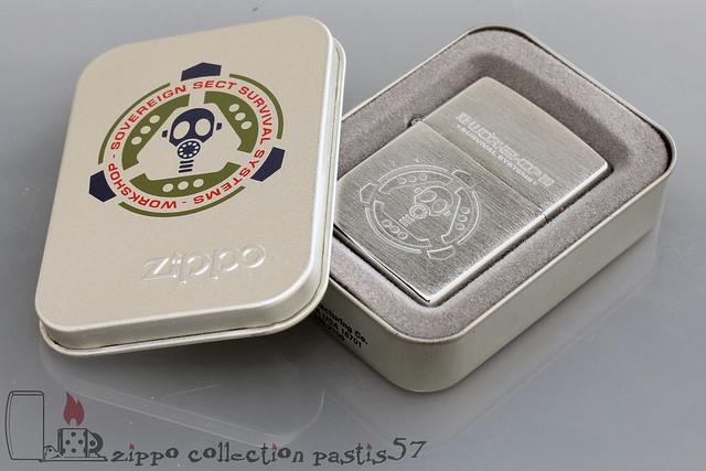 Zippo Workshop 1998-02 B-XIV Alien Workshop Survival System Reg 200 Brushed Chrome Box