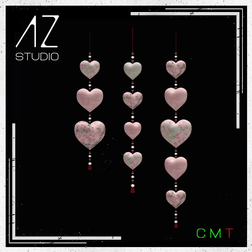 [AZ] STUDIO at Swank event February 2021 New Exclusive Release. Love String & Hearts Set part of my Celebrate LOVE collection.