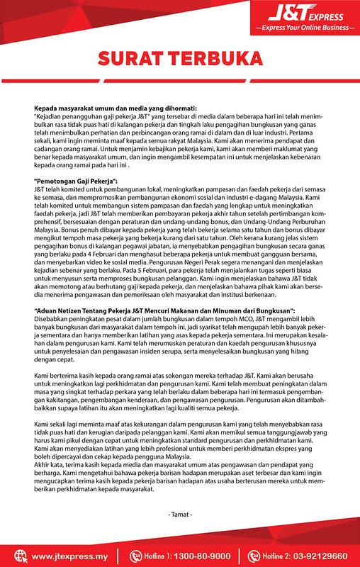 Beratur Tampil Mohon Maaf, Para Pekerja J&Amp;T Baling Barang Akui Kesilapan