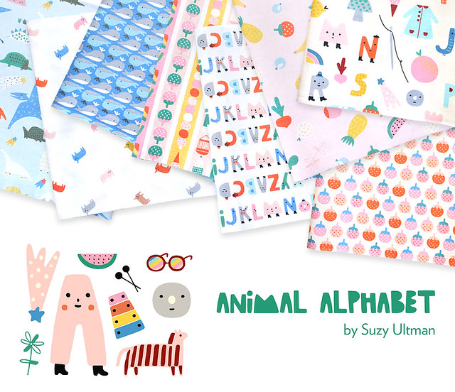 Paintbrush Studio Fabrics Animal Alphabet Collection by Suzy Ultman