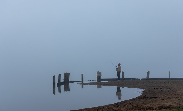 Reflection on a foggy morning