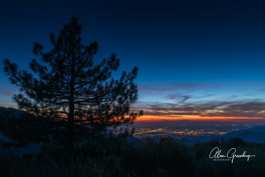 Hemet at sunset from Idyllwild, CA.