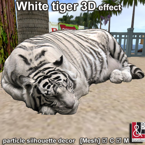 White tiger 3D effect