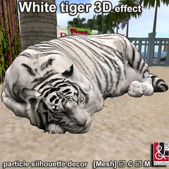 White tiger 3D effect PIC