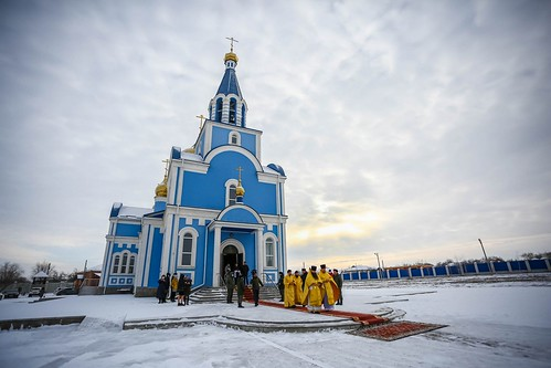 07 февраля 2021, Литургия в храме Покрова Пресвятой Богородицы с. Дивное