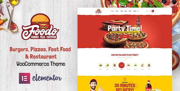 Foodo Food store Restaurant WordPress Theme