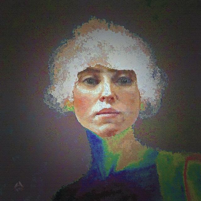 Portrait painted