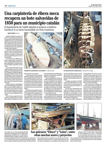 Aticle sobr la construcció del Bot publicat al Faro de Vigo, 24/gener/2021