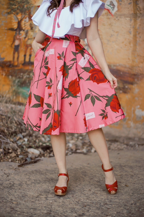 Made590 Valentina Skirt in Sweetheart Roses