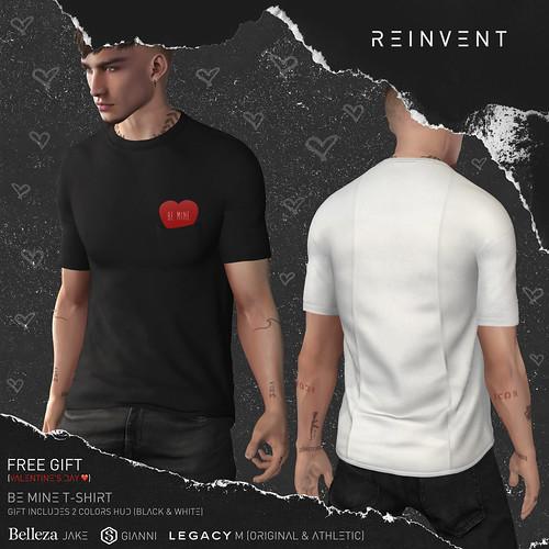 REINVENT I Be mine t-shirt - VD Gift @MainStore