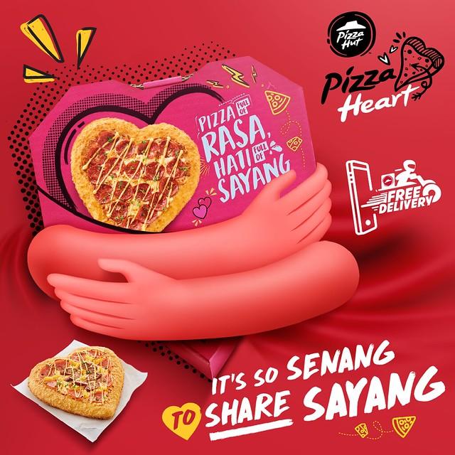 Pizza Heart - It's so senang to share sayang