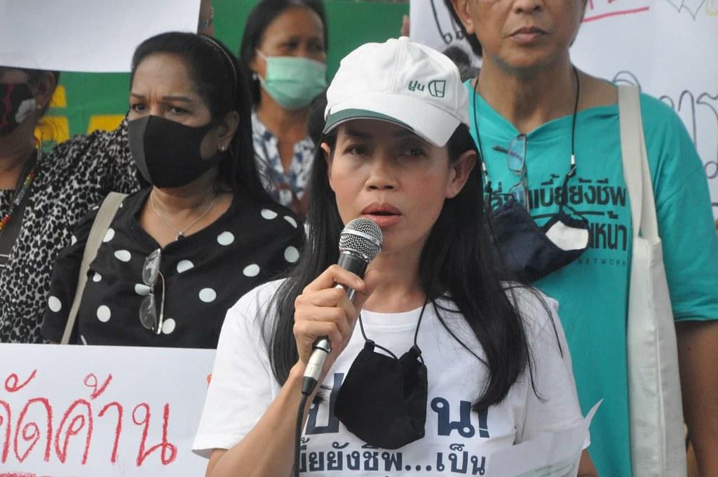 ธนพร วิจันทร์ ตัวแทนจากเครือข่ายแรงงานเพื่อสิทธิมนุษยชน วิจารณ์การบริหารงานของ พล.อ.ประยุทธ์