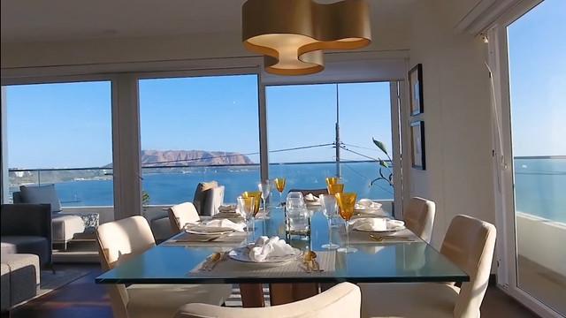 Alquilo lujos departamento con vista al mar
