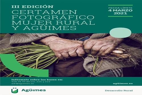 Cartel promocional del III Certamen Fotográfico Mujer Rural y Agüimes