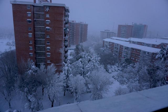 Y nevó sobre Madrid...