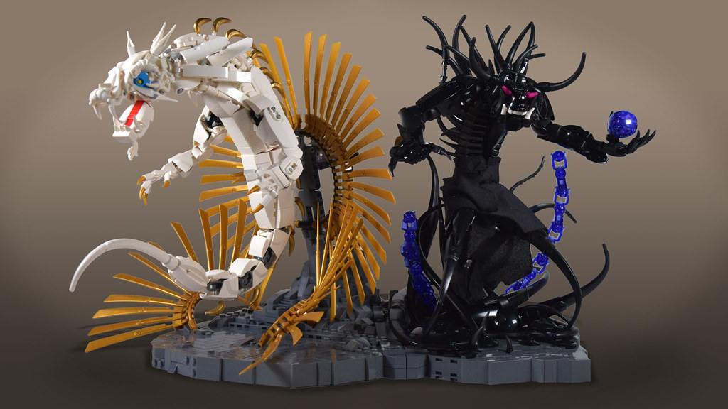 Oni and Dragon Sculpture