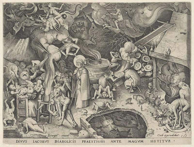 Pieter van der Heyden, After Pieter Bruegel the Elder - Saint James and the Magician Hermogenes, 1565