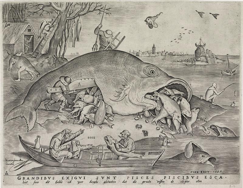 Pieter van der Heyden, After Pieter Bruegel the Elder - Big Fish Eats Little Fish, 1557
