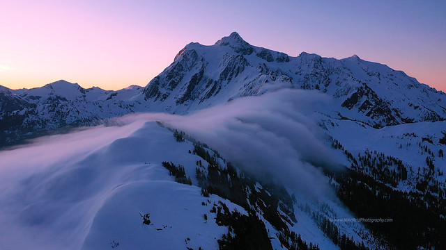 Morning Fog Across Shuksan Arm