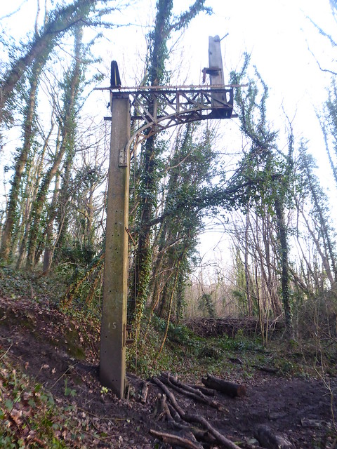 Remains of semaphore signal at Chapeltown Central station   (former Sheffield to Barnsley line)   February 2021
