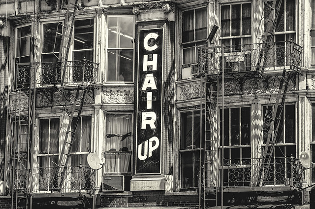 Sign on the Bowery