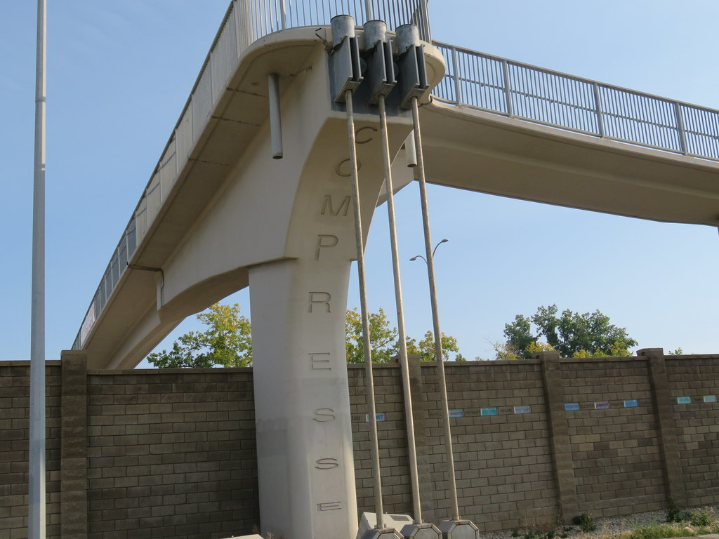 Day 655-60 Walk Calgary Communities Map Series 9 - Lakeview and North Glenmore Park - Overpass above Glenmore Trail