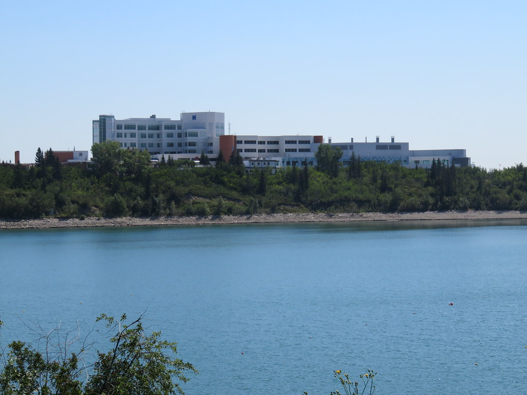 Day 655-51 Walk Calgary Communities Map Series 9 - Lakeview and North Glenmore Park - View from Glenmore Reservoir path