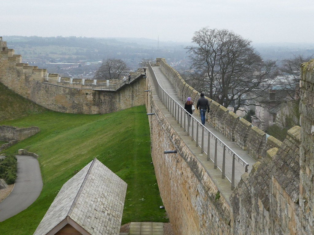 Walking along the walls at Lincoln Castle