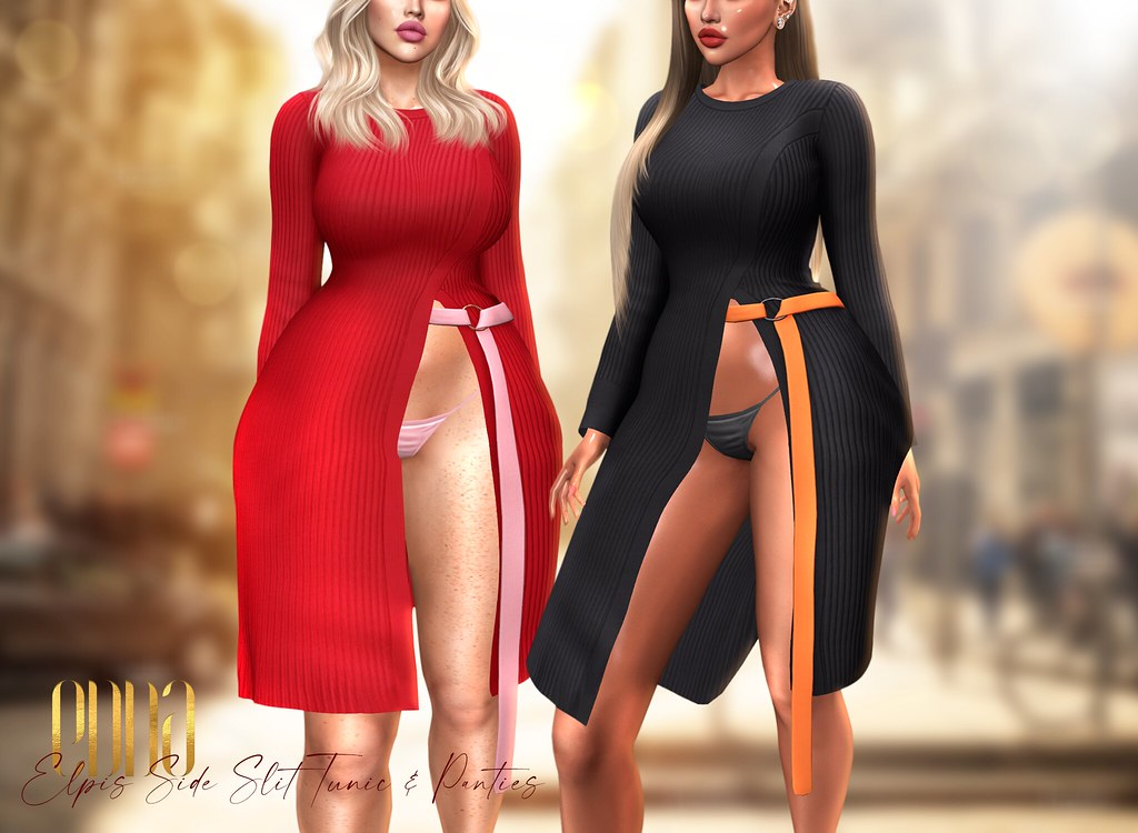 New Release@Elpis Side Slit Tunic & Panties